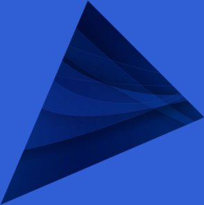 large blue triangle